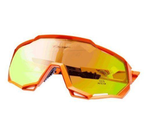 Óculos Ciclismo Tsw Cross 3 Lentes Laranja Preto C/regulagem