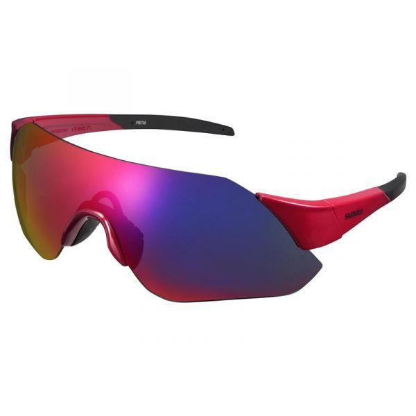 Óculos De Ciclismo Shimano Aerolite 2 Lentes Vermelho Leve