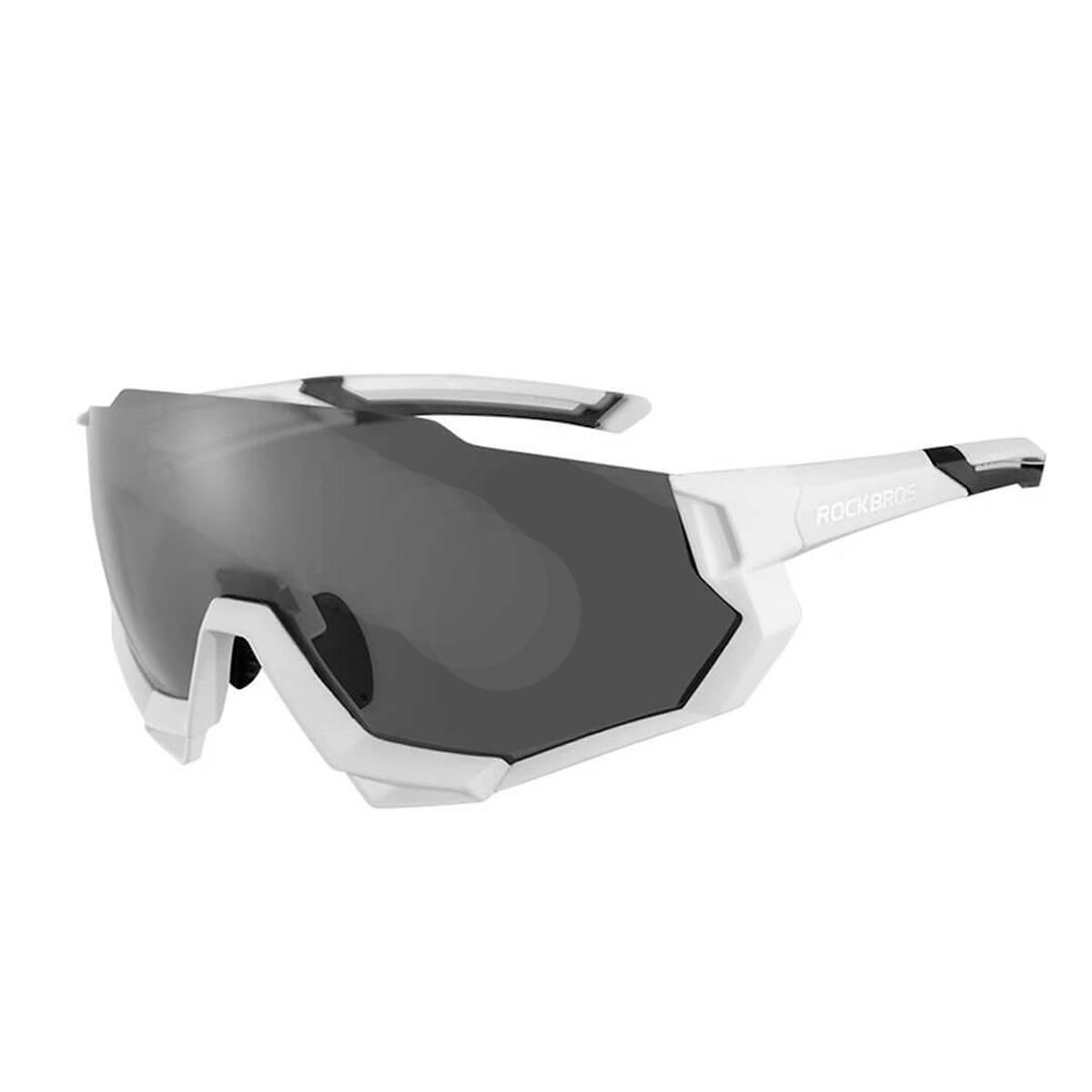 Óculos Mtb Speed Ciclismo Rockbros SP176 Uv400 - 5 Lentes Branco