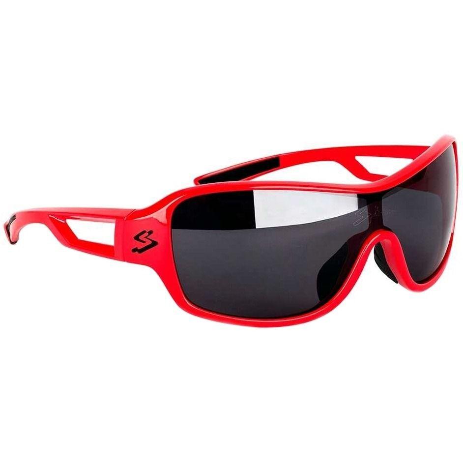 Óculos Spiuk Trophy Lentes Fume Polarizada Armação Vermelha
