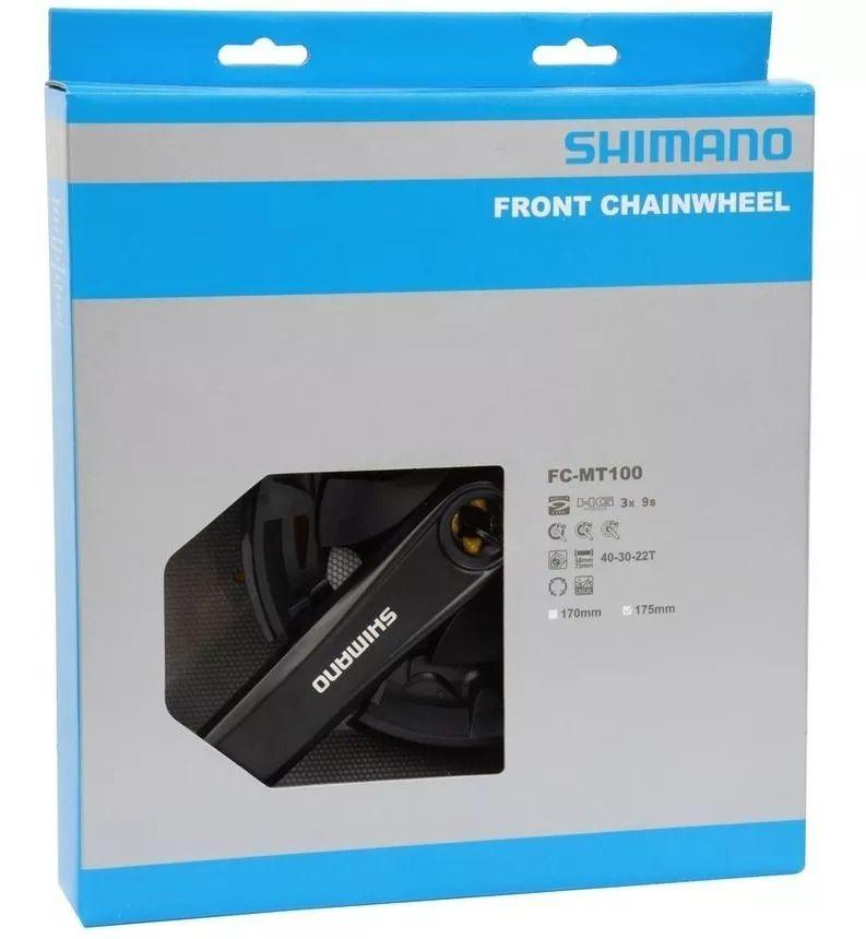 Pedivela Shimano Altus Fc-mt100 40/30/22d 175mm Quadrado 9v