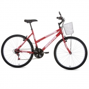 Bicicleta Aro 26 Houston Foxer Maori Vermelha com 21 Marchas FX26M2Q