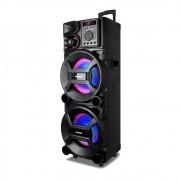 Caixa Amplificada Amvox ACA 1501 New X com Bluetooth, Rádio FM e Entradas AUX/TF CARD/USB - 1500W
