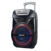 Caixa Amplificada Amvox Recarregável Bluetooth USB MicroSD Auxiliar Bivolt 380W ACA 380 VIPER