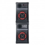 Caixa de Som Amplificada Amvox ACA 601 New X 600w Bluetooth, USB, Radio FM, Controle Remoto