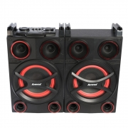 Caixa Som Amplificada Bluetooth 1400W Rms Ativa Passiva Mp3 Fm Usb Sd Led Tws Amvox ACA 1401 MONSTER