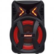 Caixa Som Amplificada Portátil Bluetooth 180W Rms Mp3 Fm Usb Led Bateria Tws Amvox ACA 189 MONTANHA