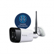 Câmera de Segurança Wi-Fi Externa com Inteligência de Vídeo HD Branca ESC-WB3F Elsys