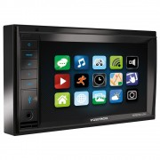 Central Multimídia Pósitron 2 Din SP8230 Link 6.2 Bluetooth Espelhamento Android MP3 DVD USB AUX FM