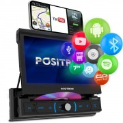 Central Multimidia Retrátil Pósitron SP6330BT Android Bluetooth DVD MP3 SD USB