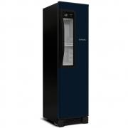 Cervejeira vertical metalfrio beer max 300 azul com porta glass viewer 287l 127v