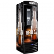 Cervejeira Vertical Metalfrio Porta Glass Viewer 387 Litros Adesivada VN44FL 127V