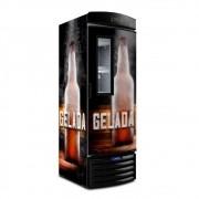 Cervejeira Vertical Metalfrio Porta Glass Viewer Adesivada 497 Litros VN50FL 220V CERVEJA GELADA