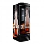 Cervejeira Visa Cooler Expositor Vertical Porta Visor 497 Litros Vn50fl New Cerveja Gelada