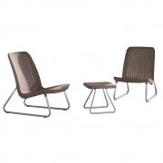 Conjunto para Jardim com 2 Cadeiras e 1 Mesa Rio Patio-Keter Marrom