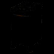 Fogão de Piso Esmaltec 4B Safira Glass Mesa de Vidro Preto Bivolt