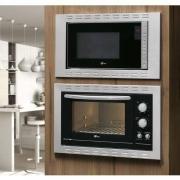 Kit Fischer Linha New Fit Line Forno 44l + Micro Ondas 25lt Embutir - 220v