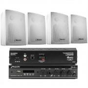 Kit Sonorização Ambiente Com 1 SLIM-800 APP + 4 PS-200