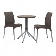 Mesa com 2 Cadeiras Chelsea Patio Set Keter Marrom