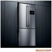 Refrigerador Side Inverse Brastemp de 03 Portas Frost Free com 540 Litros Painel Eletrônico Inox - BRO81AR 127V