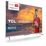 Smart TV TCL LED Ultra HD 4K 50 Android TV com Google Assistant, Bordas Ultrafinas e Wi-Fi 50P715