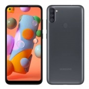 Smartphone Samsung Galaxy A11 64GB Preto 4G Octa-Core 3GB RAM 6,4 Cam Tripla + Selfie 8MP