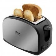 Torradeira French Toast Inox Philco com 8 Opções de Tostagem - Aço Escovado/Vermelha 127V
