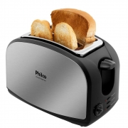 Torradeira French Toast Philco com 8 Níveis de Tostagem - Inox/Preto 127V