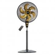 Ventilador de Coluna Air timer PT e Dourado 127v