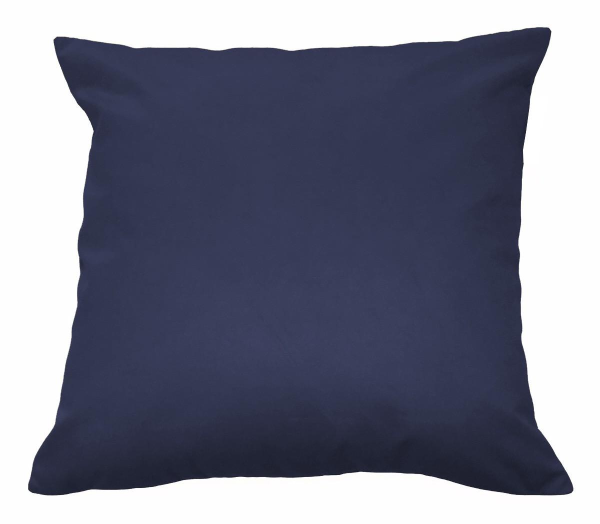 Almofada Decorativa 40x40 Tecido Suede Azul Marinho