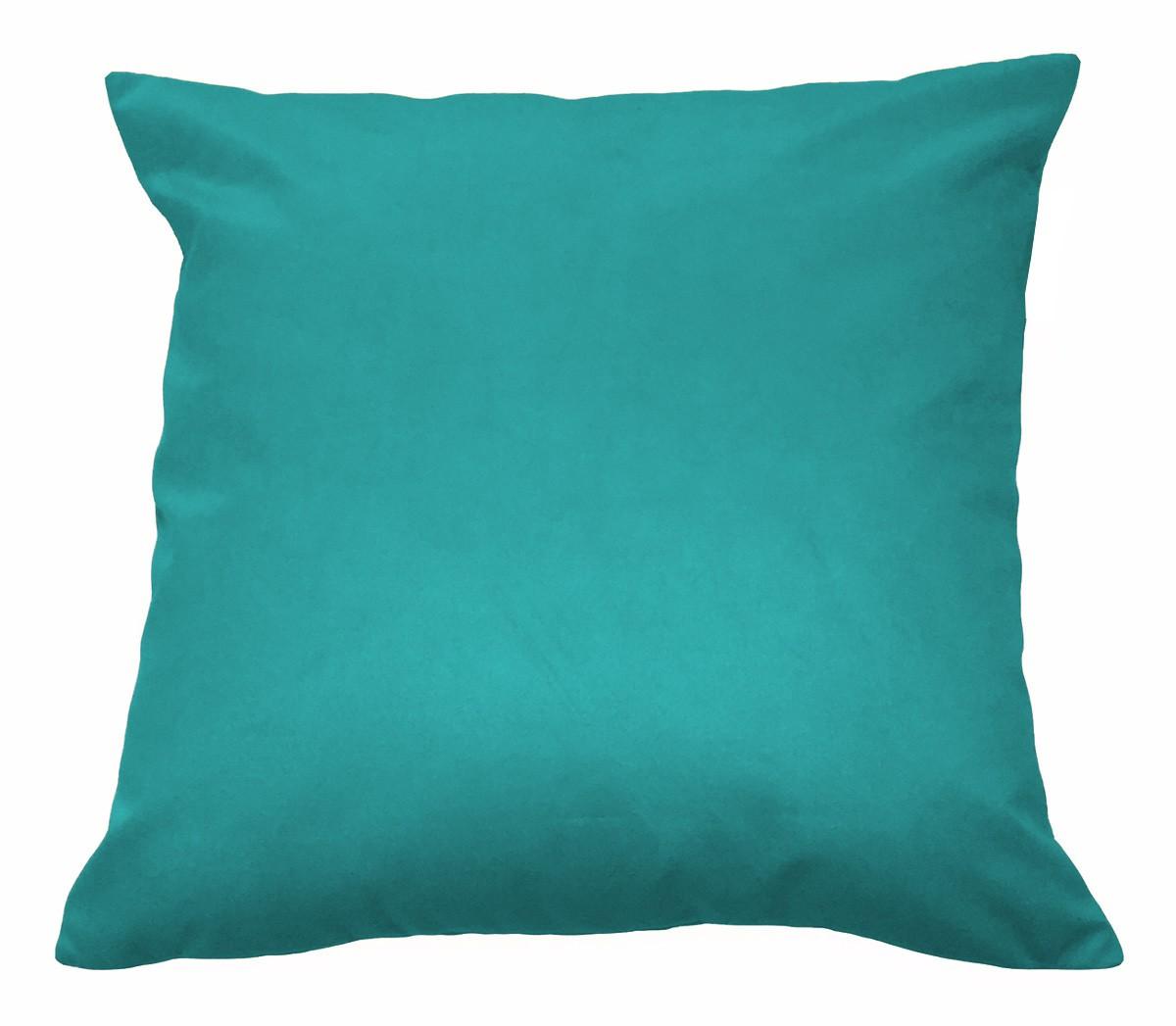 Almofada Decorativa 50x50 Tecido Suede Azul Tiffany