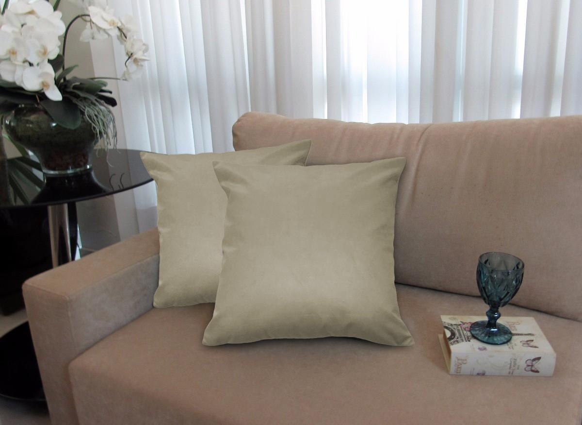 Almofada Decorativa 50x50 Tecido Suede Nude