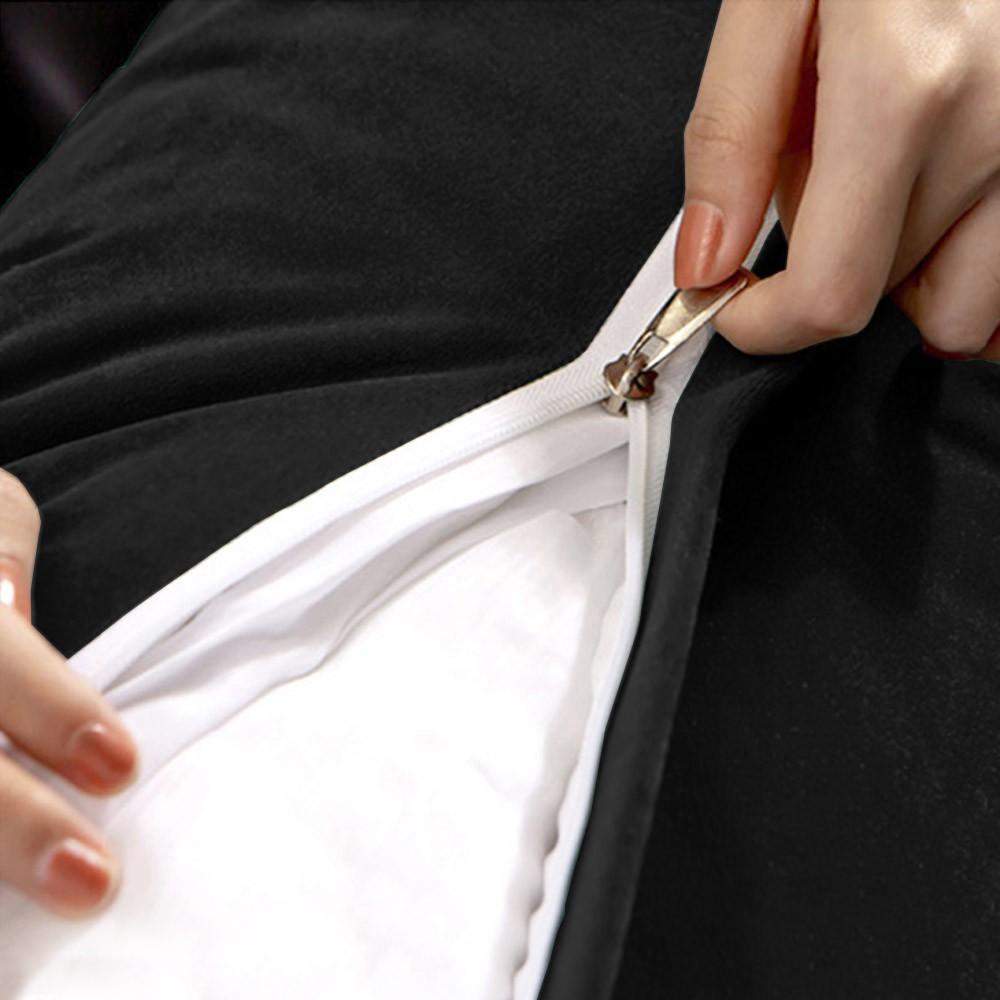 Almofada para Cabeceira Mel 0,90 cm Solteiro Travesseiro Apoio para Encosto Macia Formato Triângulo Suede Preto