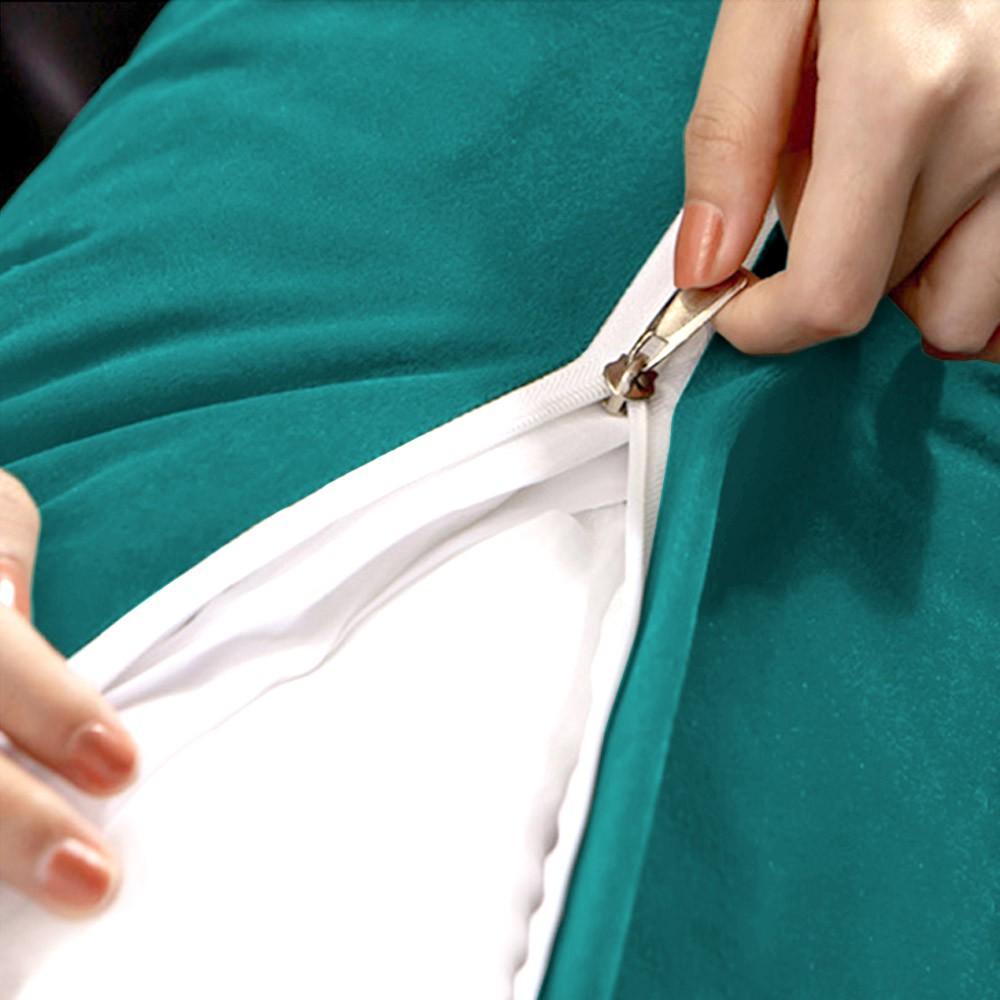 Almofada para Cabeceira Mel 1,60 m Queen Travesseiro Apoio para Encosto Macia Formato Triângulo Suede Azul Tiffany