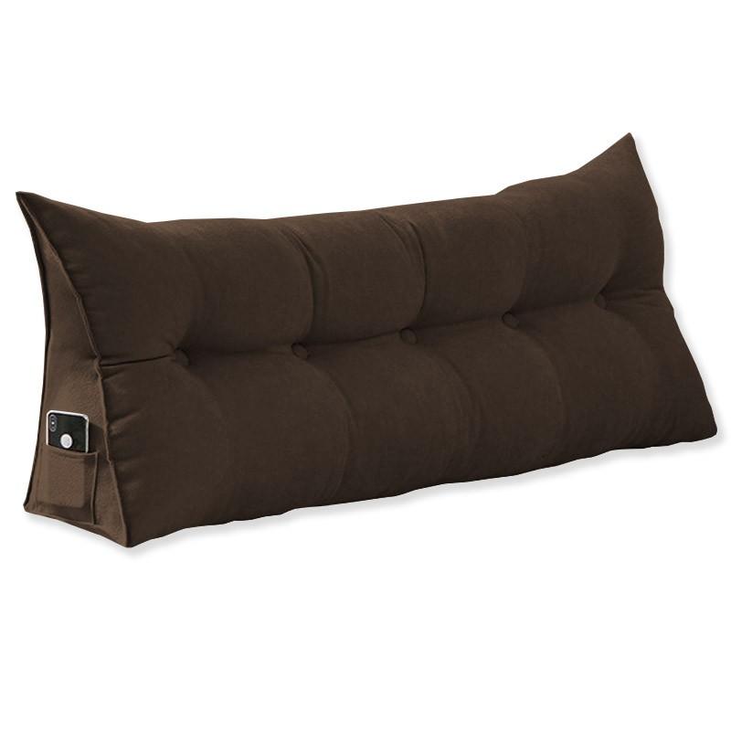 Almofada para Cabeceira Mel 1,95 m King Travesseiro Apoio para Encosto Macia Formato Triângulo Suede Marrom