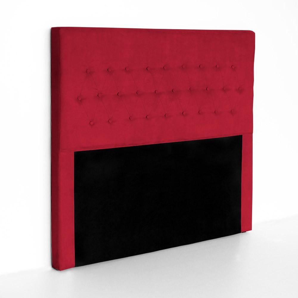 Cabeceira Egeo para Cama Box Casal 1,40 m Estofada Suede Vermelho