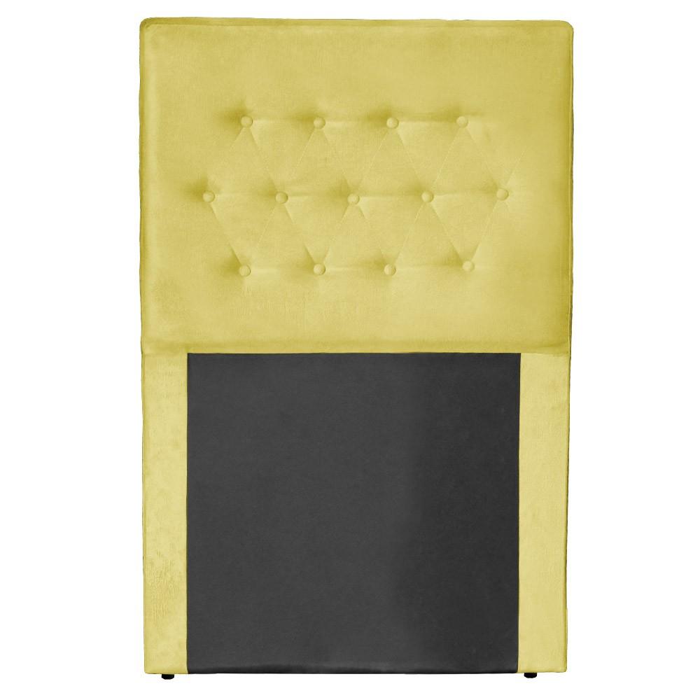 Cabeceira Egeo para Cama Box Solteiro 0,90 cm Estofada Suede Amarelo