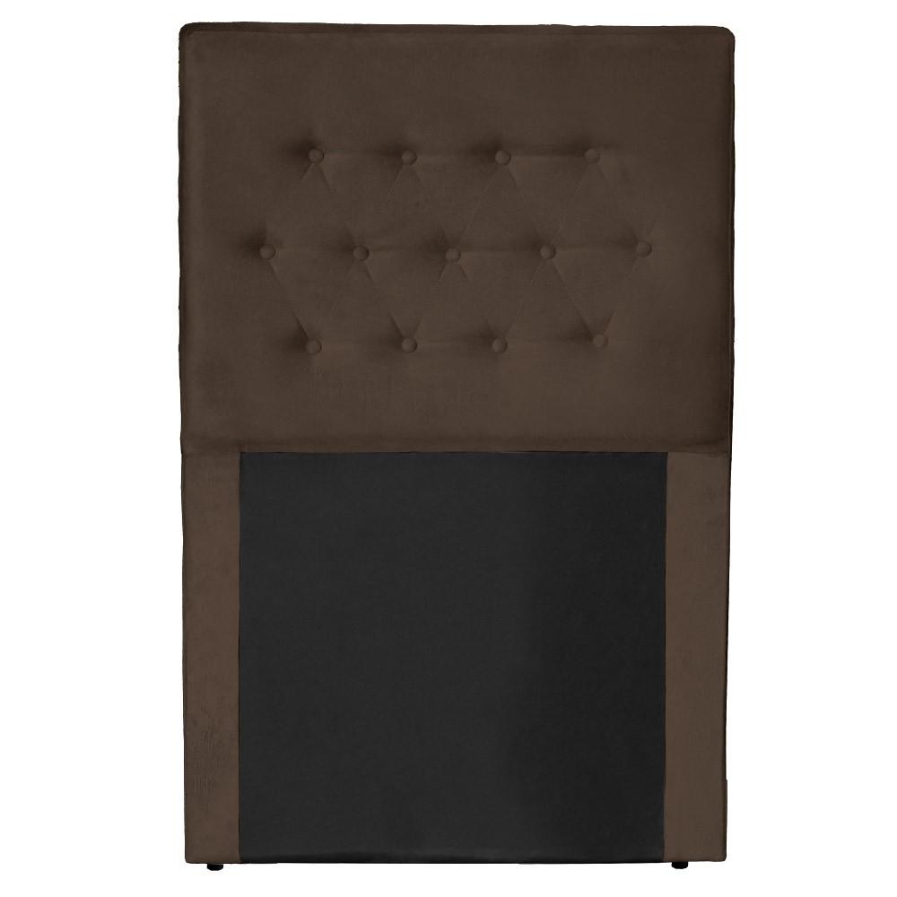 Cabeceira Egeo para Cama Box Solteiro 0,90 cm Estofada Suede Marrom