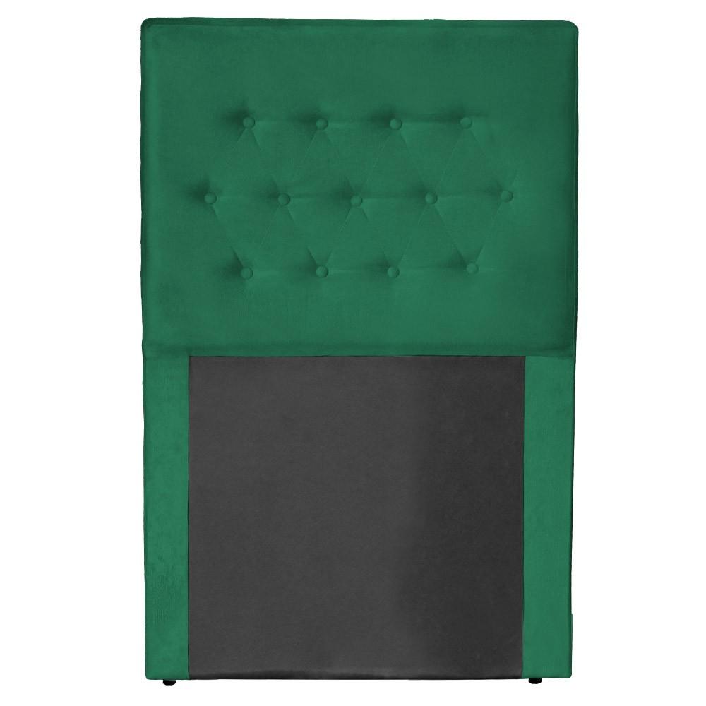 Cabeceira Egeo para Cama Box Solteiro 0,90 cm Estofada Suede Verde Bandeira