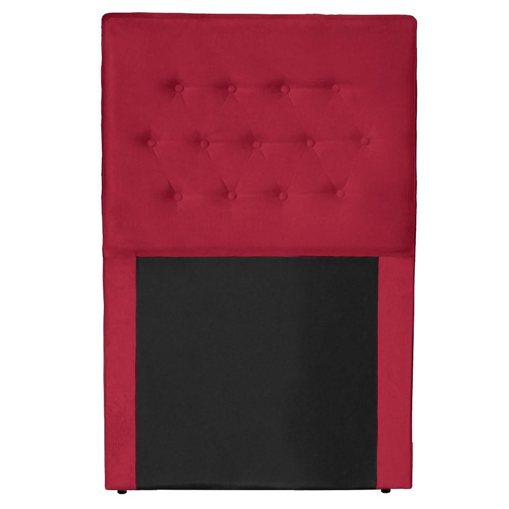 Cabeceira Egeo para Cama Box Solteiro 1,00 cm Estofada Suede Vermelho
