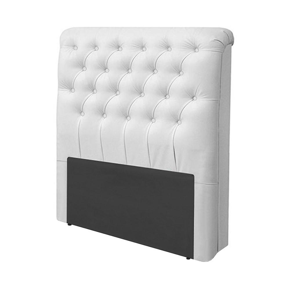 Cabeceira Livia Corino Branco P/cama Box Solteiro 0,90 Larg.