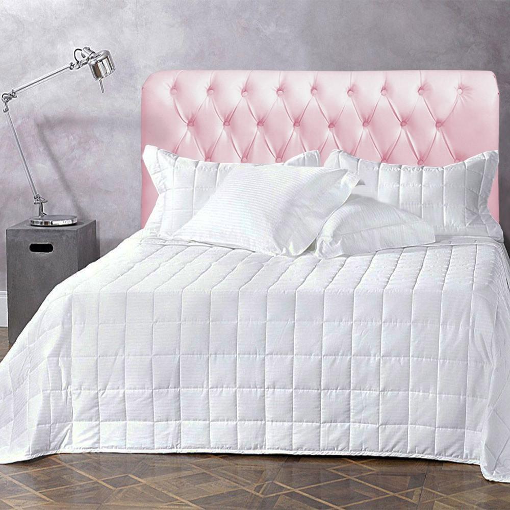 Cabeceira Livia Corino Rosa P/cama Box Solteiro 0,90 Larg