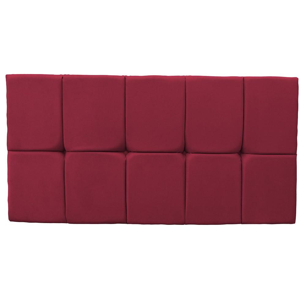 Cabeceira Painel Nina para Cama Box Casal 1,40 cm Estofada Suede Vermelho