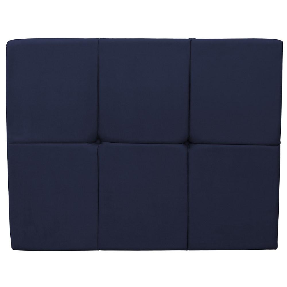 Cabeceira Painel Nina para Cama Box Solteiro 1,00 m Estofada Suede Azul Marinho