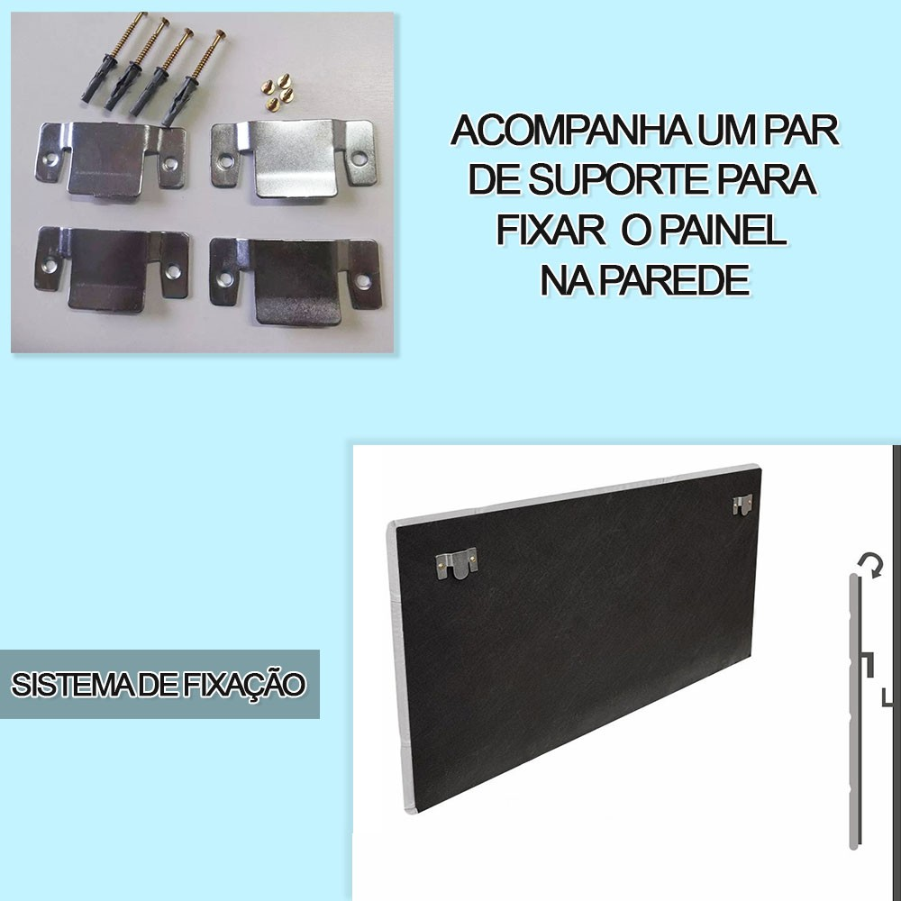 Cabeceira Painel Nina para Cama Box Solteiro 1,00 m Estofada Suede Cinza Grafite