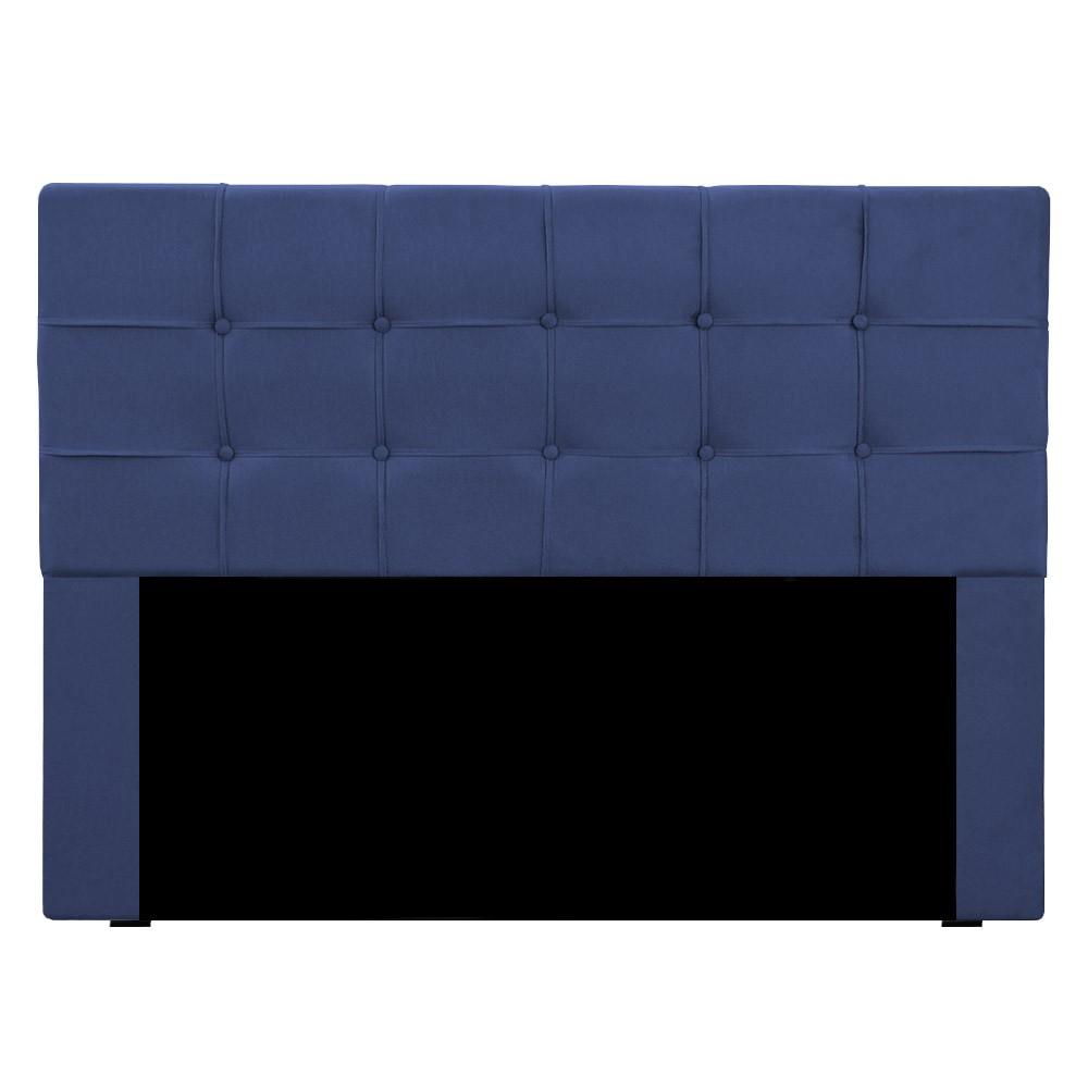 Cabeceira Slim Casal 140cm Suede Azul Marinho