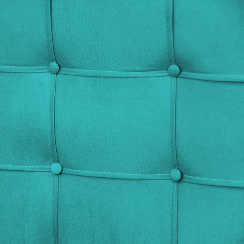 Cabeceira Slim Casal 140cm Suede Azul Tifanny