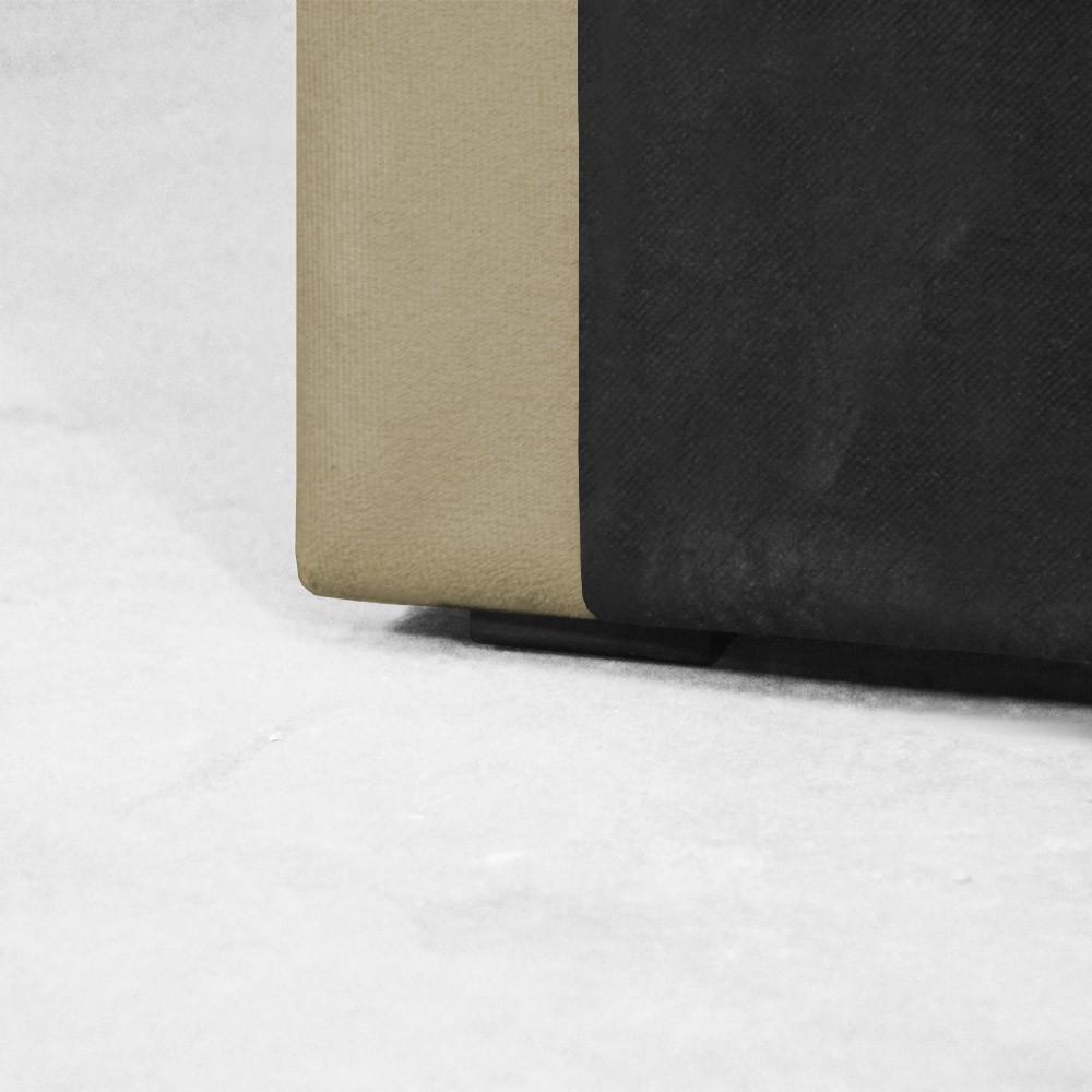 Cabeceira para Cama Box Slim Casal 1,40 m Estofada Suede Nude