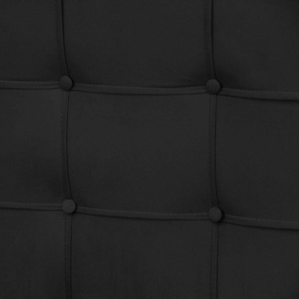 Cabeceira para Cama Box Slim King 1,95 m Estofada Suede Preto