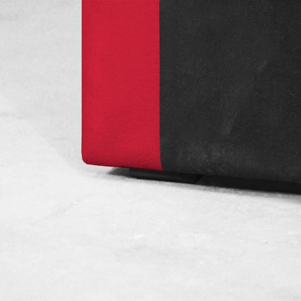 Cabeceira para Cama Box Slim King 1,95 m Estofada Suede Vermelho